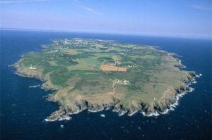 île de groix vue aérienne