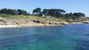 Les côtes de l'île de Groix